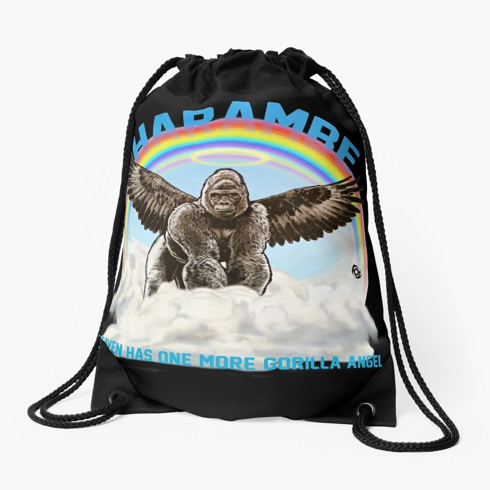 Harambe - Gorilla Angel Drawstring Bag