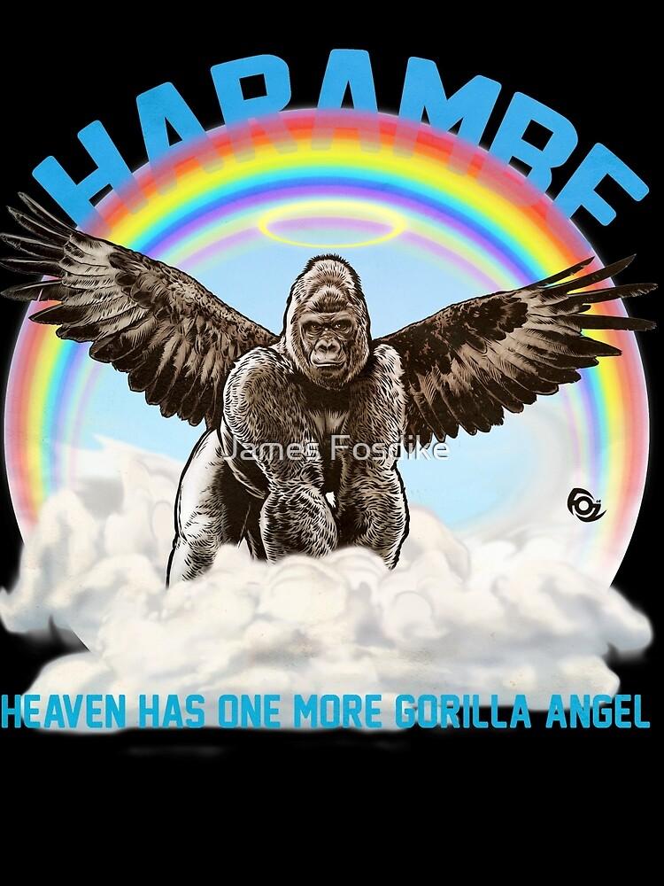 Harambe - Gorilla Angel by MrFoz