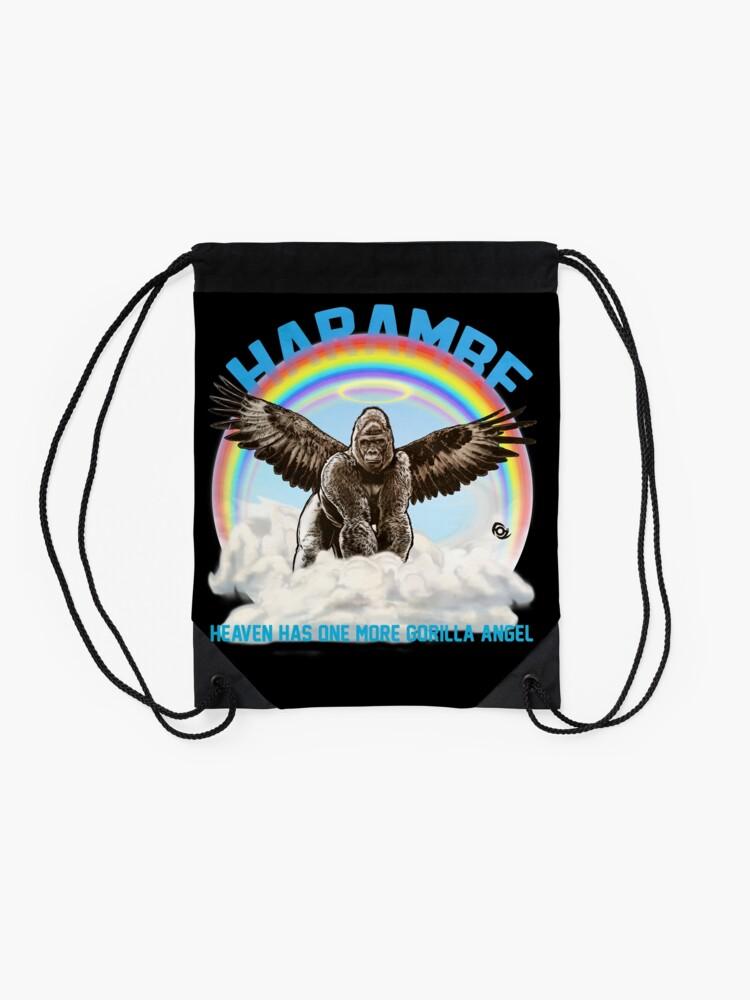 Alternate view of Harambe - Gorilla Angel Drawstring Bag
