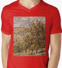 Claude Monet - Apple Blossom  Mens V-Neck T-Shirt