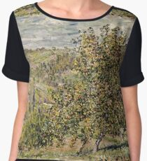 Claude Monet - Apple Blossom  Chiffon Top