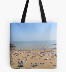 At the beach Tote Bag