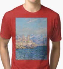 Claude Monet - Antibes Afternoon Effect Tri-blend T-Shirt