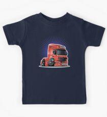 Cartoon semi-truck Kids Tee