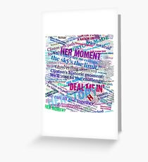 Hillary Clinton Nomination Headline Collage Greeting Card