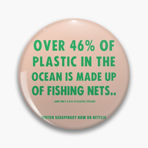 Watch Seaspiracy - Vegan Facts: 46% Of Plastic In The Ocean Is Made Up Of Fishing Nets Pin