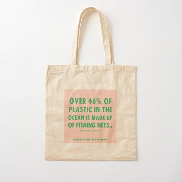 Watch Seaspiracy - Vegan Facts: 46% Of Plastic In The Ocean Is Made Up Of Fishing Nets Cotton Tote Bag