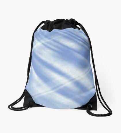 White silence Drawstring Bag