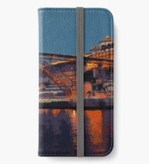 Porto River Douro and Bridge in the Evening Light iPhone Wallet/Case/Skin