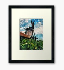 sketching windmill Framed Print