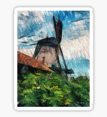 sketching windmill Sticker