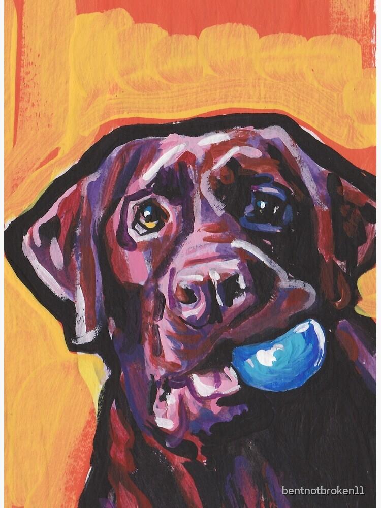 Chocolate Labrador Retriever Dog Bright colorful pop dog art by bentnotbroken11