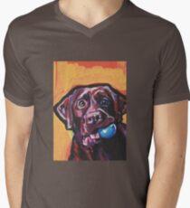 Chocolate Labrador Retriever Dog Bright colorful pop dog art T-Shirt