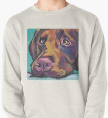 Chocolate Labrador Retriever Dog Bright colorful pop dog art Pullover