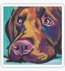 Chocolate Labrador Retriever Dog Bright colorful pop dog art Sticker