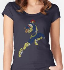 Captain Falcon Typography - Justice is Served! Women's Fitted Scoop T-Shirt