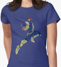 Captain Falcon Typography - Justice is Served! Women's Fitted T-Shirt
