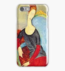 Amedeo Modigliani - Mme Hebuterne In A Blue Chair  iPhone Case/Skin