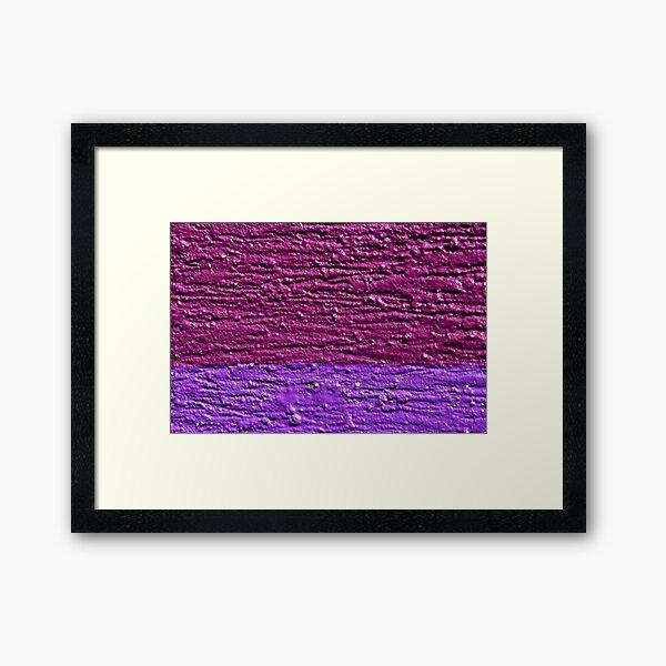 Slice of Purple Framed Art Print