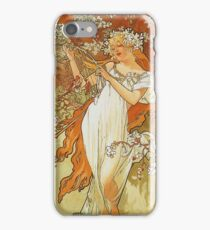 Alphonse Mucha - Spring 1896 iPhone Case/Skin