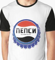 Russian Pepsi Cola Graphic T-Shirt