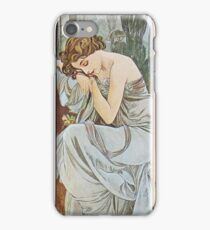 Alphonse Mucha - Repos De La Nuit Nocturnal Slumber iPhone Case/Skin