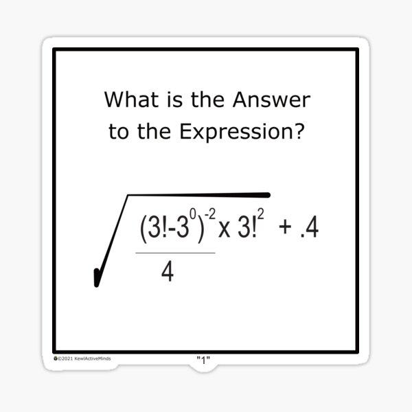 Math Puzzle Series - One Sticker