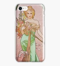 Alphonse Mucha - Printempsspring iPhone Case/Skin