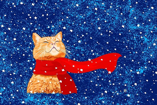 Tabby loves Snow by . VectorInk