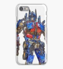 Transformers Optimus Prime Or Orion Pax Colored Pencil iPhone Case/Skin