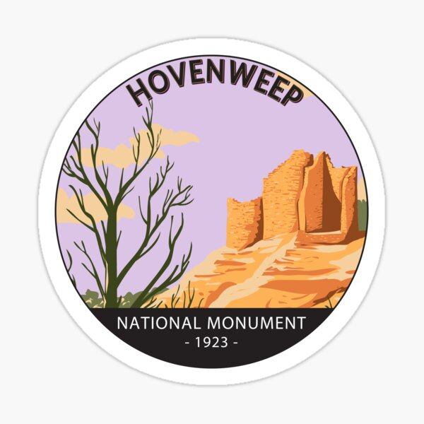 Hovenweep National Monument Cutthroat Castle Circle Sticker