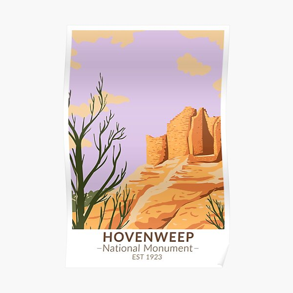 Hovenweep National Monument Cutthroat Castle Vintage Poster