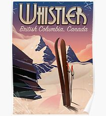 Whistler,Vancouver, British Columbia Ski poster  Poster