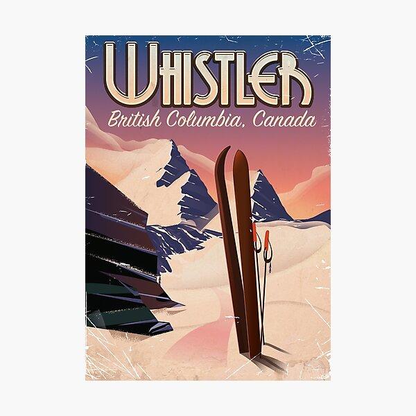 Whistler,Vancouver, British Columbia Ski poster  Photographic Print