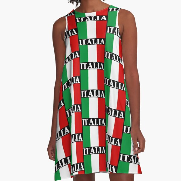 ITALIA Flag A-Line Dress
