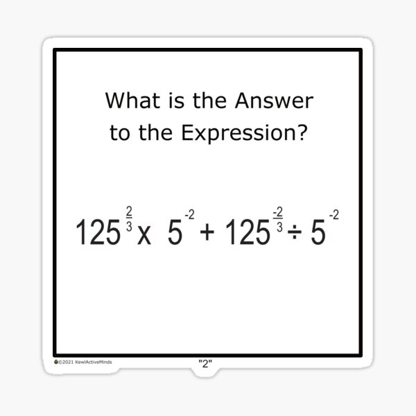 Math Series Puzzle - Two Sticker