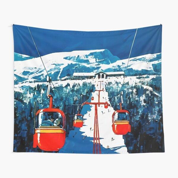 Vintage Stowe Gondola Winter Travel Ski poster Tapestry