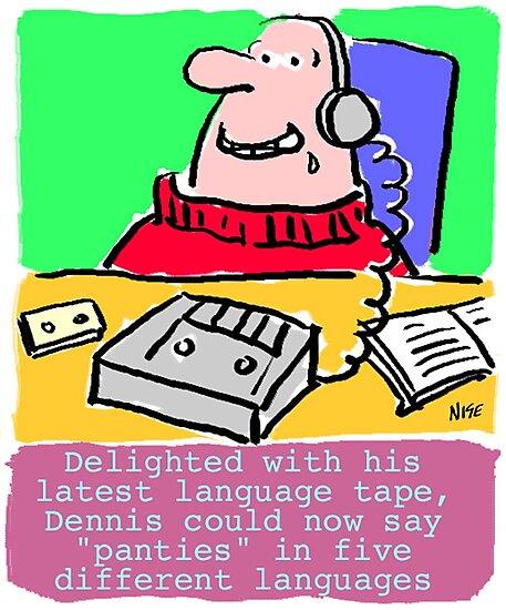 Cartoon - Pervert takes language course. by Nigel Sutherland
