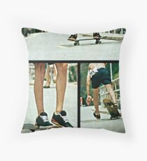 Sunday on the deck Throw Pillow