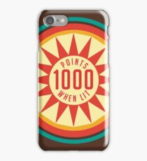 Retro Pinball Points iPhone Case/Skin