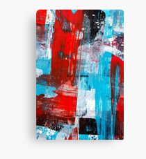 Modern Turquoise Abstract Canvas Print