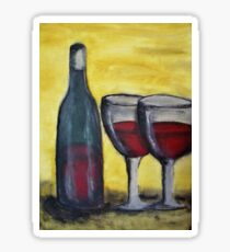 Wine for Two Sticker