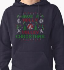 Holly Volley Volleyball Ugly Christmas by TeeCreations Pullover Hoodie