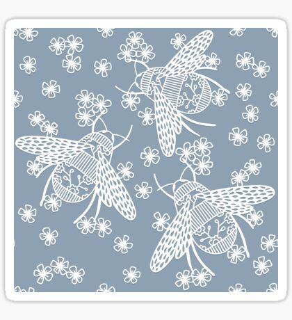 Papercut Bees Sticker