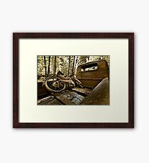 Vintage moped - swap meet find Framed Print
