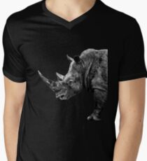 SAFARI PROFILE - RHINO BLACK EDITION Men's V-Neck T-Shirt