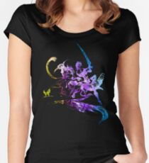 Final Fantasy X-2 logo universe Women's Fitted Scoop T-Shirt
