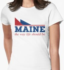 Maine the way life should be Women's Fitted T-Shirt