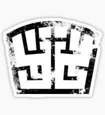 SOLDIER black grunge Sticker