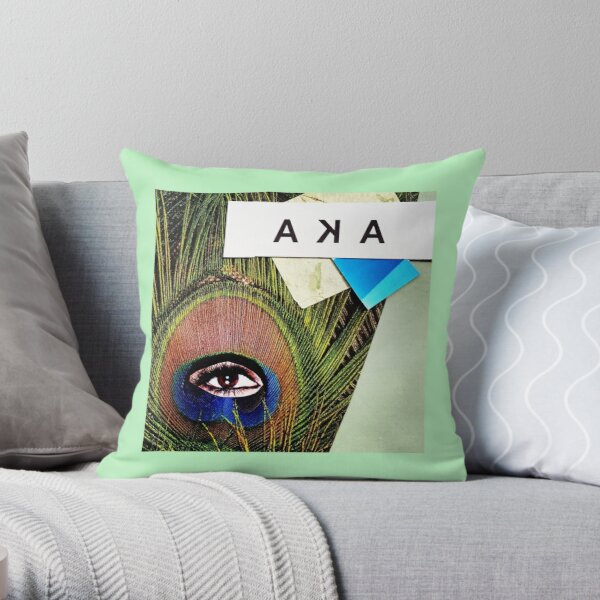 """""""Eye of the Feather""""  Throw Pillow"""